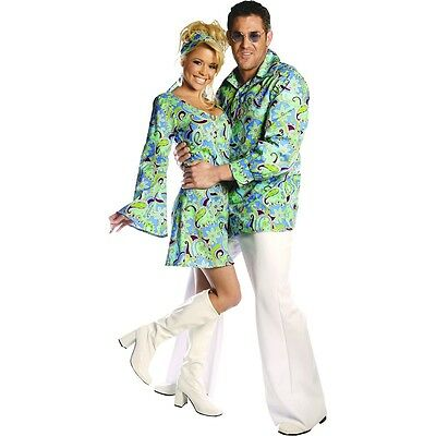 Bell Bottom Pants Adult Disco Flares 70s Halloween Costume Fancy Dress - Men Disco Pants