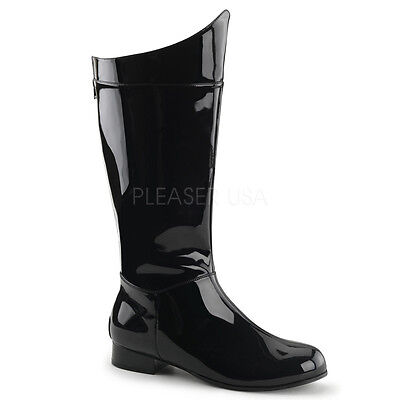 Black Super Hero Darth Vader Batman Star Wars Costume Mens Boots size 8 9 10 11  - Darth Vader Boots