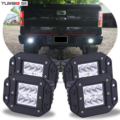 98 Ford F250 Front Lower - For Ford F150/250/350 Flush Mount Backup Reverse Rear+Front Bumper 4x Led Lights