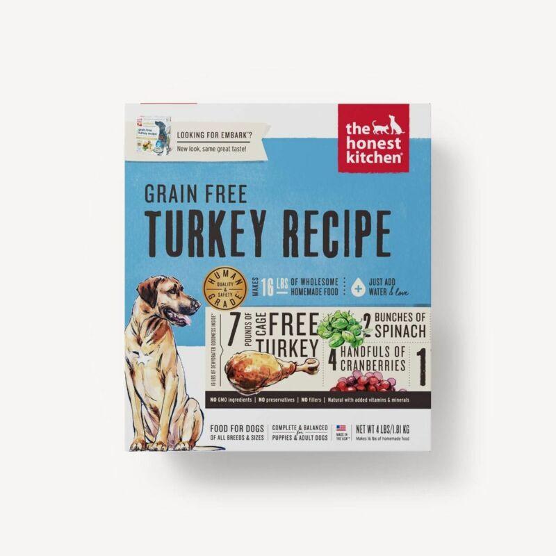 The Honest Kitchen FORCE Grain Free Dehydrated Turkey Dog Food 10 lb Box