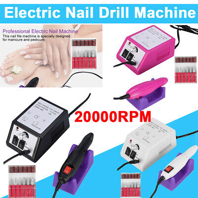 2000RMP Electric Acrylic Nail Art File Drill Set Manicure Machine Sand Drill Kit