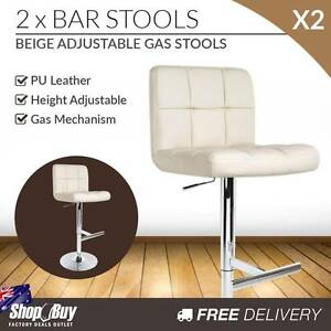 Free Delivery: 2 x PU Leather Gas Lift Bar Stool Kitchen Office Melbourne CBD Melbourne City Preview