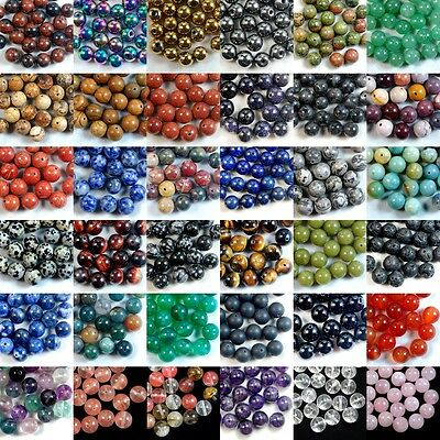 Beads - Wholesale Lot Natural Gemstone Round Spacer Loose Beads 4mm 6mm 8mm 10mm 12mm