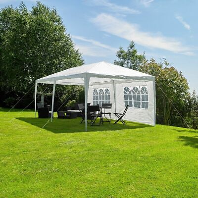 Wido 3 X 6M WHITE GAZEBO MARQUEE PARTY TENT OUTDOOR GARDEN CANOPY WEDDING AWNING