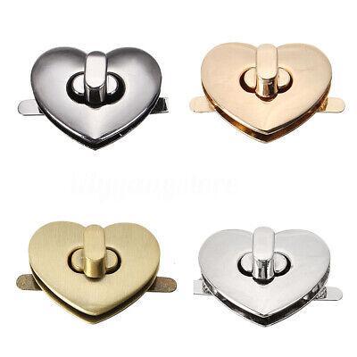 DIY Handbag Bag Hardware Alloy Buckles Heart Shape Clasp Turn Lock Twist -