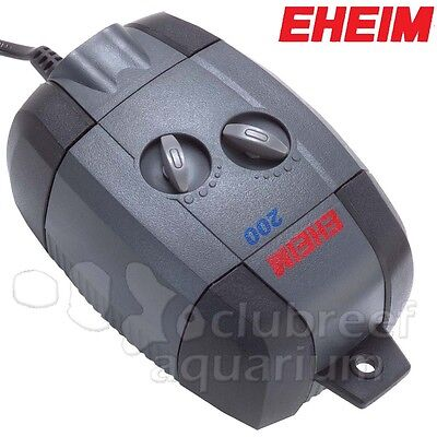 Eheim Adjustable Air Pump 200 l/hr 3.5W Watt Dual Outlet with Diffusers