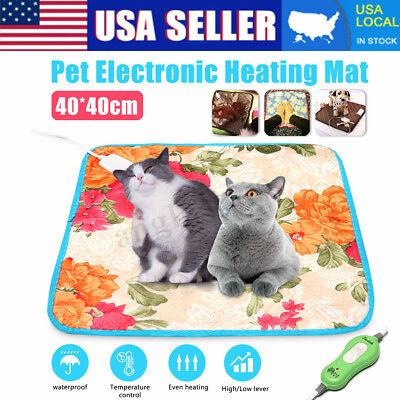 US Pet Electric Pad Blanket Heat Heated Heating Mat Dog Cat Bunny Bed Waterproof