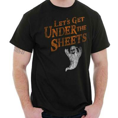 Lets Get Under Sheet Funny Edgy Naughty Halloween Ghost Cool Classic T Shirt Tee](Halloween Naughty)