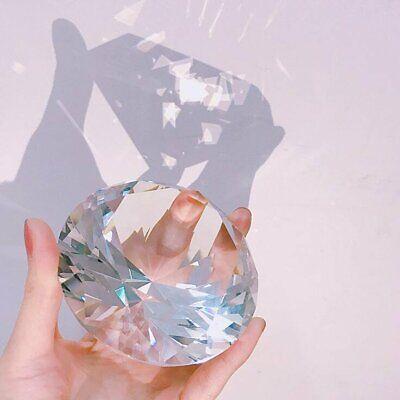 Valentines Day Decor (80mm Crystal Diamond Paperweight Centerpiece Wedding Decor Valentine's Day)