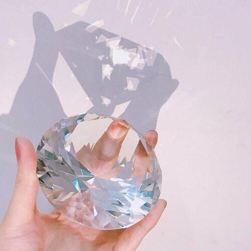 80mm Crystal Diamond Paperweight Centerpiece Wedding Decor Valentine