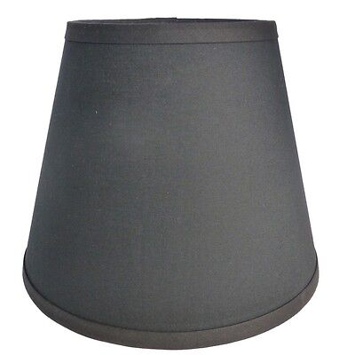 Custom Made Lamp Shades - Black Fabric Custom Made Handcrafted Lamp Shade 6 x 10 x 8 Use in Any Room