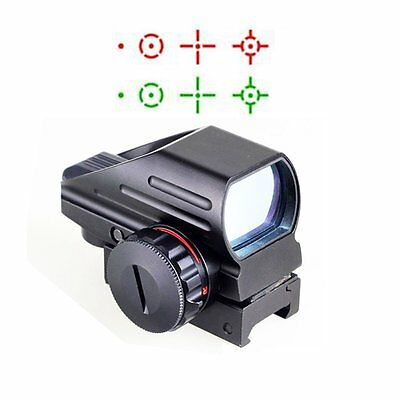 Tactical Red Green Dot Sight Reflex Holographic Scope 4 Different Reticles