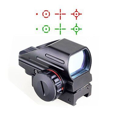Tactical Red Green Dot Sight Reflex Holographic Rifle Scope 4 Different Reticles