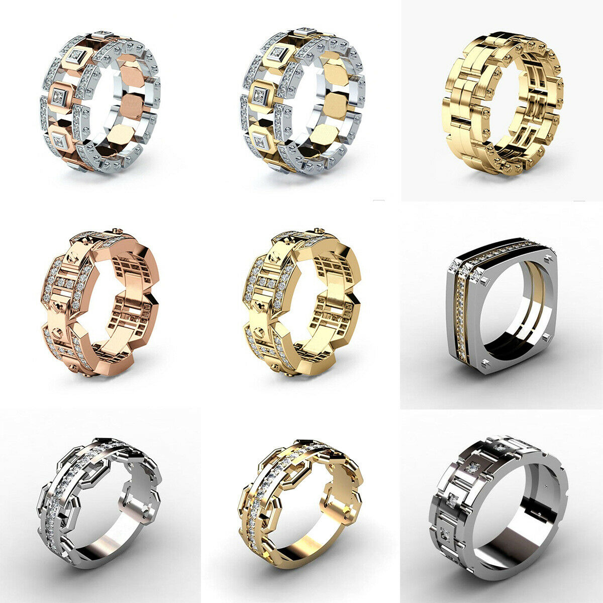 8mm Stainless Steel Black Ring Wedding Band with Beveled Edg