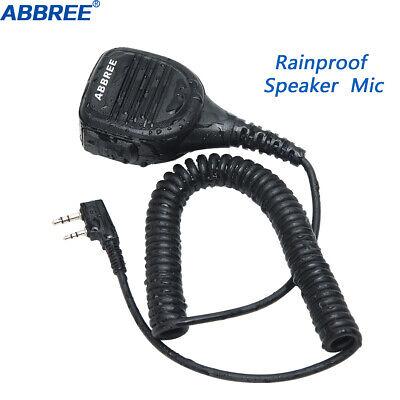 ABBREE AR-760 Rainproof Speaker Mic for Two Way Radio TYT Baofeng UV-5R UV-82