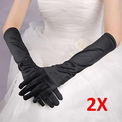 Satin Evening Gloves (2Pair Sexy Women Evening Party Formal Gloves 15