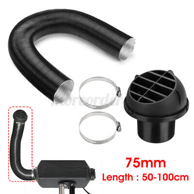 UK 75mm Heater Pipe Duct Hose &Warm Air Vent Outlet For Webasto Eberspacher `.