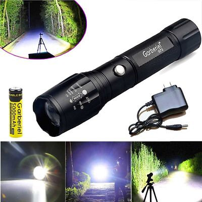 Tactical Police 12000Lumen XM-L T6 LED Flashlight Torch Battery&Charger USA