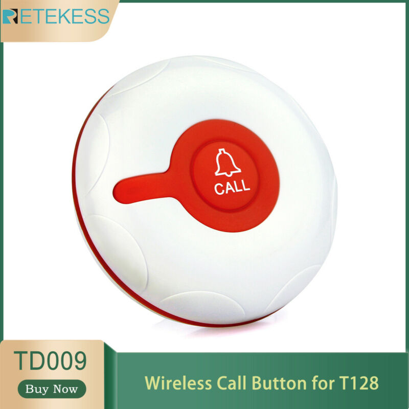 Retekess Wireless Restaurant Sevice Calling Button for T128 10*Cafe Call Button