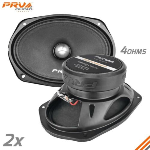 "2x PRV Audio 6x9"" 1000W Midrange Bullet Speakers 4Ohm PRO Audio 69MR500-4 BULLET"