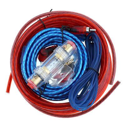 1 Set Car Amplifier Wiring Kit Audio Subwoofer AMP RCA Power Cable AGU FUSE Suit