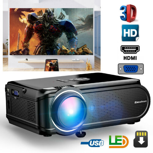 HD 1080P LED Projector 7000Lumens 3D Home Cinema Theater Multimedia VGA USB - $67.99