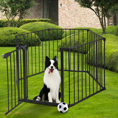 Fireplace Fence Baby Pet Gag Cat Safety Hearth Metal Gate Pet Steel Fire Gate