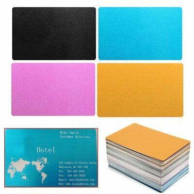 100x Aluminium Alloy Metal Laser Marking Business Cards Dye Sublimation Printing