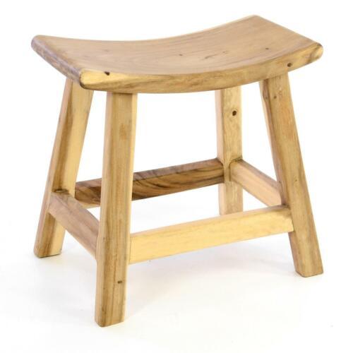 DIVERO Hocker Suar Holz Sitzhocker Holzhocker massiv unbehandelt Gartenhocker