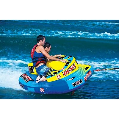 Ruby 2 persons sister tube inflatable towable lounge water-ski new