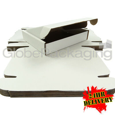 200 x White Postal Mailing Gift Shipping Cartons Boxes 250x210x50mm (10x8x2