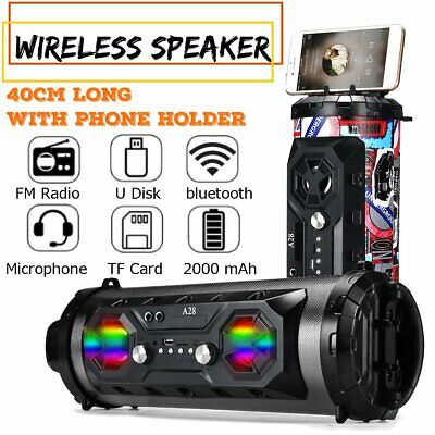 2020 Portable Wireless bluetooth Speaker Super Bass Stereo Radio HIFI FM TF AUX