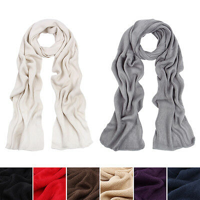 Premium Long Fine Knit Solid Color Warm Winter Scarf - Different -