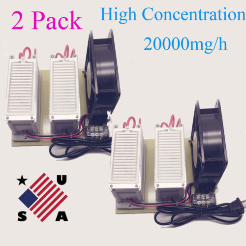 2X 20g/h High Concentration Ozone Generator Disinfection Machine Air Purifier US