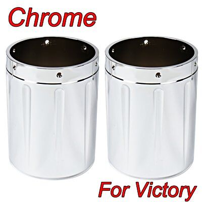 Chrome Shallow Cut Exhaust tips For Victory Cross Country Hardball Vision Roads