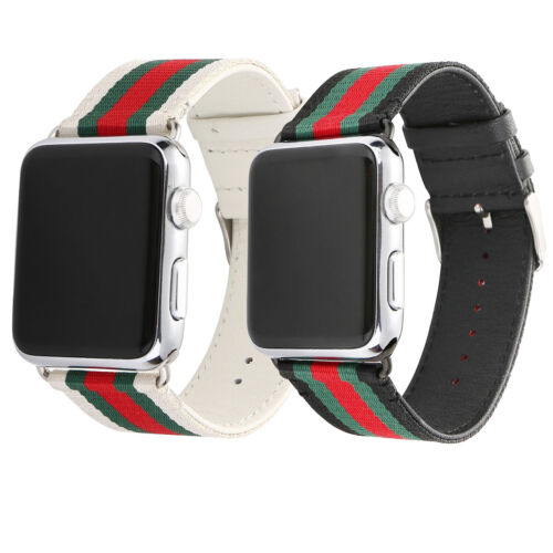 for Apple Watch Band Gucci Stripe Pattern Sport Replacement