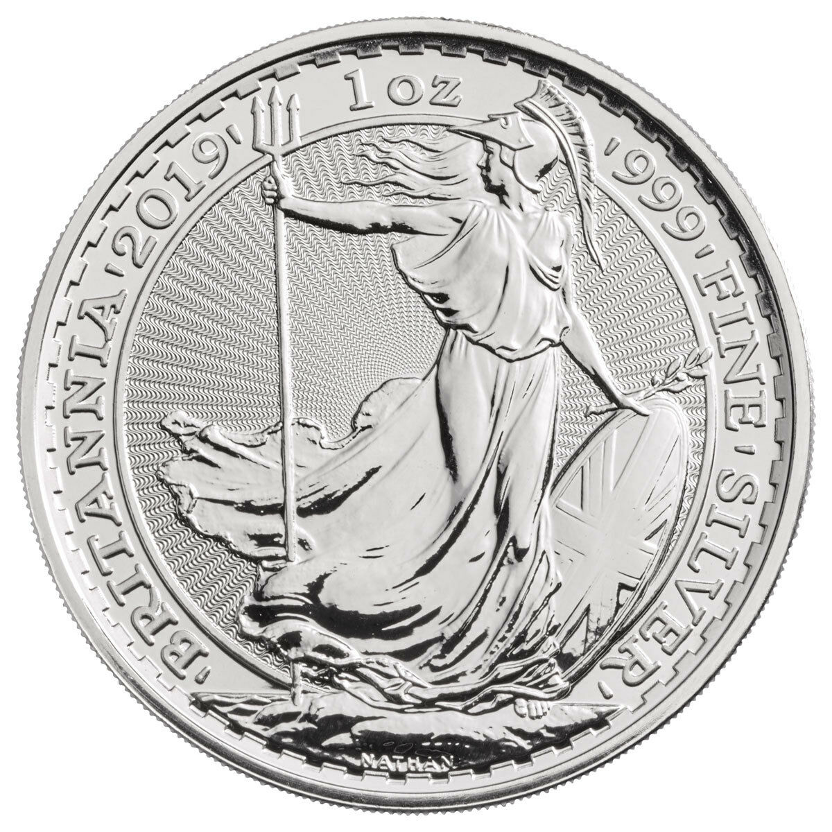 2019 Great Britain 1 oz. Silver Britannia £2 Coin GEM BU SKU55555