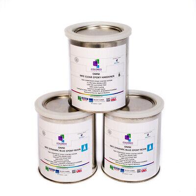 Light Blue Epoxy Resin 100 Solids For Garage Floorplywoodconcrete.3quart Kit