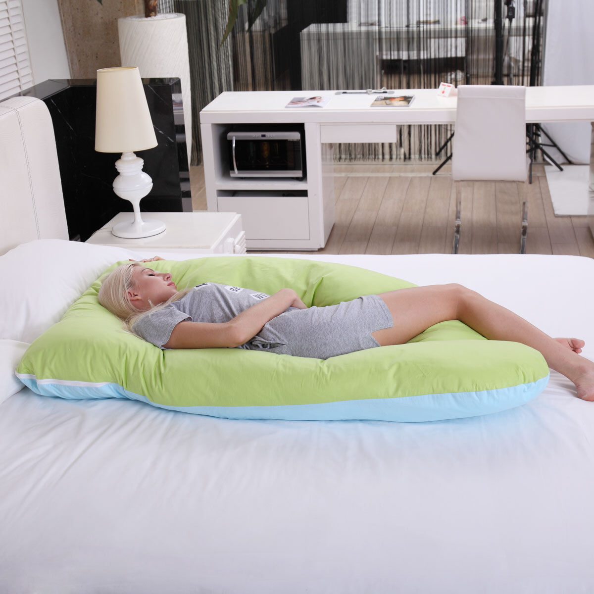 Cushion Cover Belly Contoured U Shape Body Pregnancy Pillow