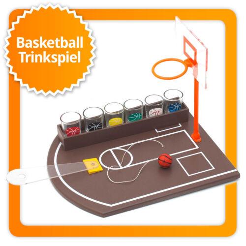 Partyspiel Basketball Trinkspiel Party & Saufspiel mit 6 Schnapsgläsern