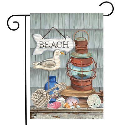 beachy vibes summer garden flag nautical rustic