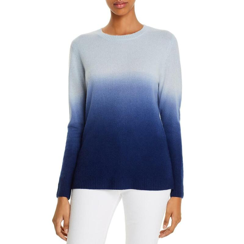 Private Label Womens Cashmere Ribbed Top Crewneck Sweater BHFO 9639