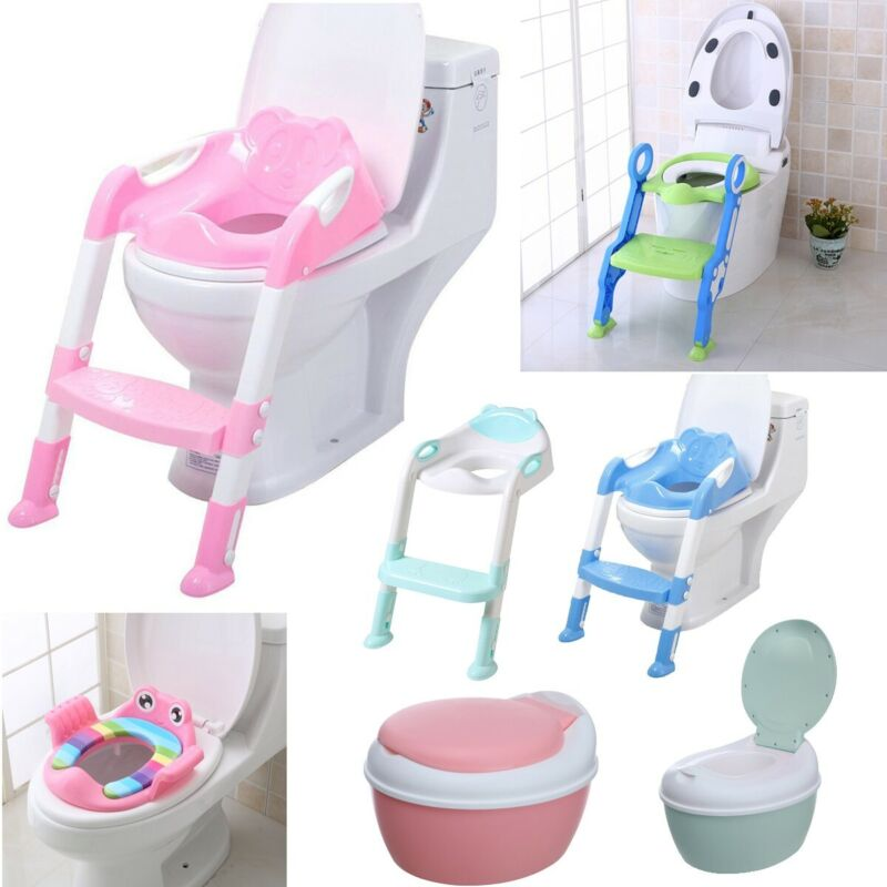 Baby Kids Potty Training Soft Seat with Step Stool Ladder Ch