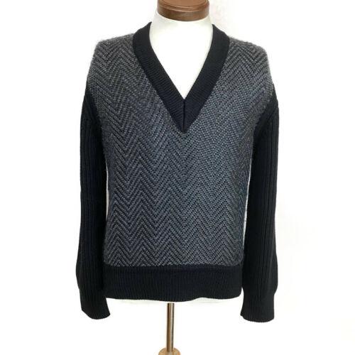 Louis vuitton 100% laine pull taille xs noir lv authentique ak130