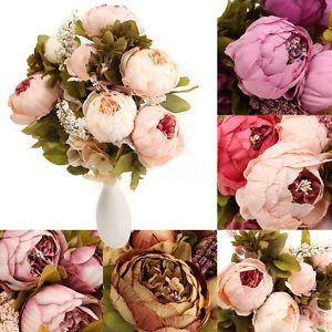 Flowers-Artificial-Peony-Silk-Fake-Bouquet-Home-Wedding-Decoration-Garden-Office