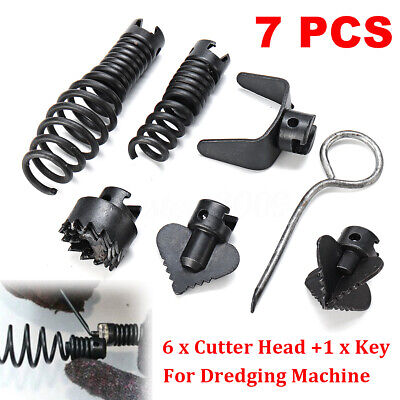 7pcs Manganese Steel Drain Cleaner Combination Cutter Head For Dredging Machine