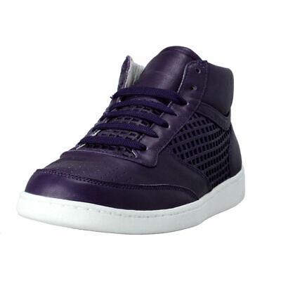 Dolce & Gabbana Men's Purple Leather Fashion Sneakers Shoes Sz 7 7.5 8 8.5