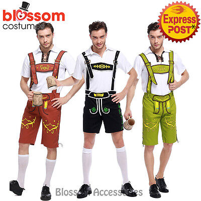 K107 Mens Lederhosen Oktoberfest Octoberfest Bavarian German Beer Costume Outfit - October Fest Outfit