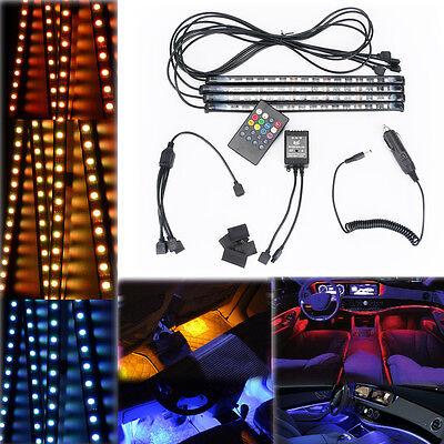 WOW - 12V Car Interior Decor RGB LED Strip Light 7 Colors Wireless Music Control