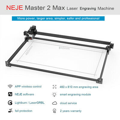 Neje Master 2 Max 30w Usb Cnc Laser Engraver Marking Machine Wood Cutter Diy Kit